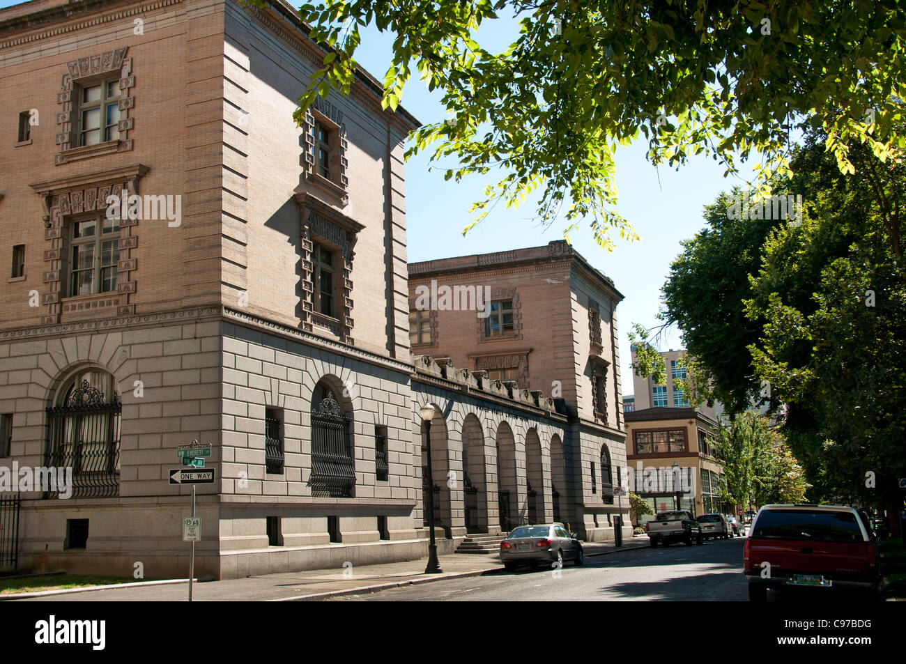 Portland Oregon United States Custom House of America USA - Stock Image