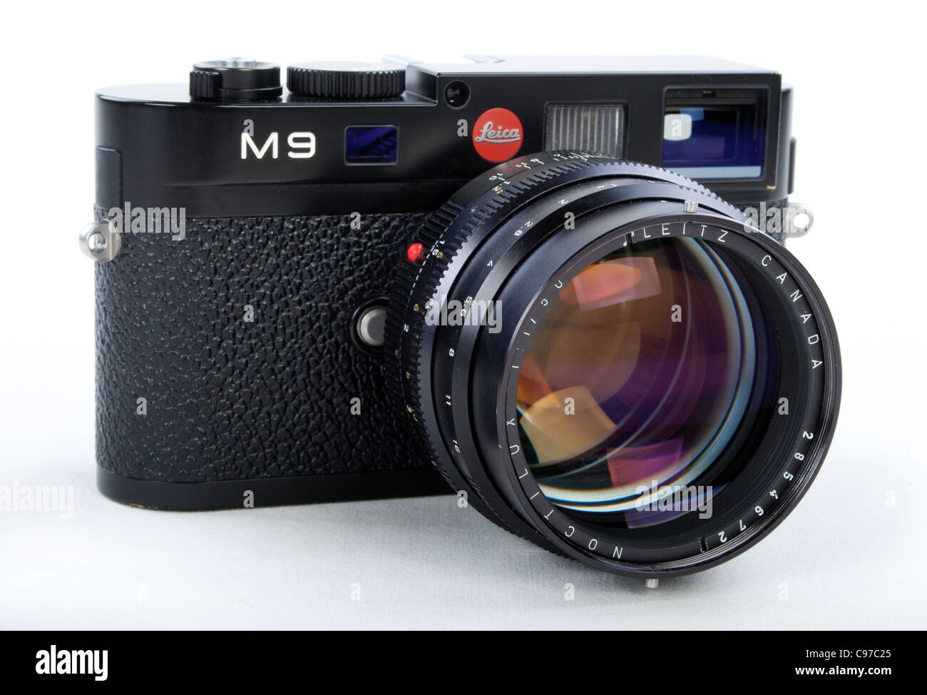 LEICA M9 Digital Rangefinder Camera Body with Noctilux f1 50mm Fast Lens - Stock Image