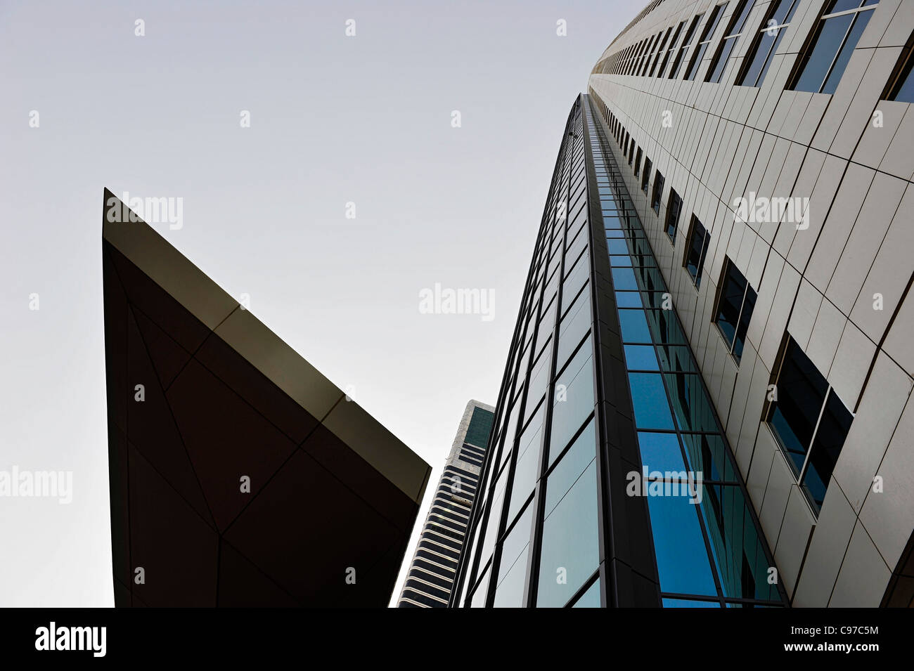 Facade, new luxury hotel THE PLACE, Sheikh Zayed Road, Al Satwa, Dubai, United Arab Emirates, Middle East - Stock Image
