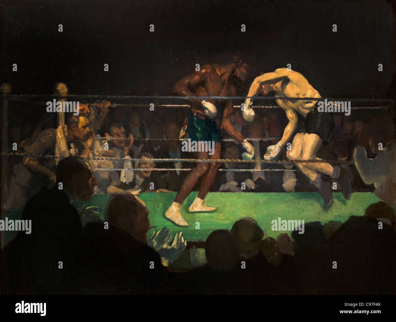 The Boxing Match 1910 by George Benjamin Luks American - Stock Image
