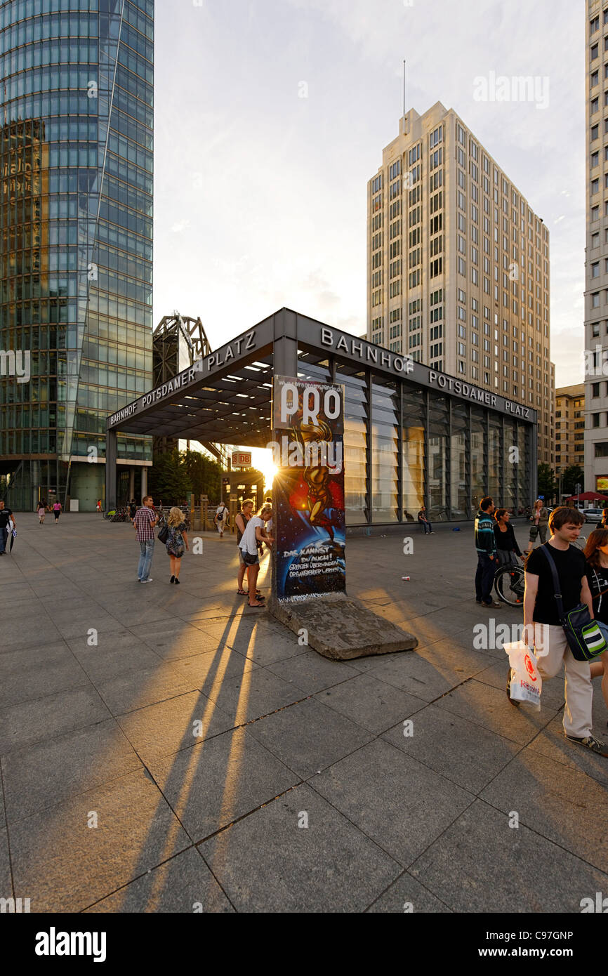 Subway station, Potsdamer Platz square in the early evening, Berlin, Germany, Europe Stock Photo