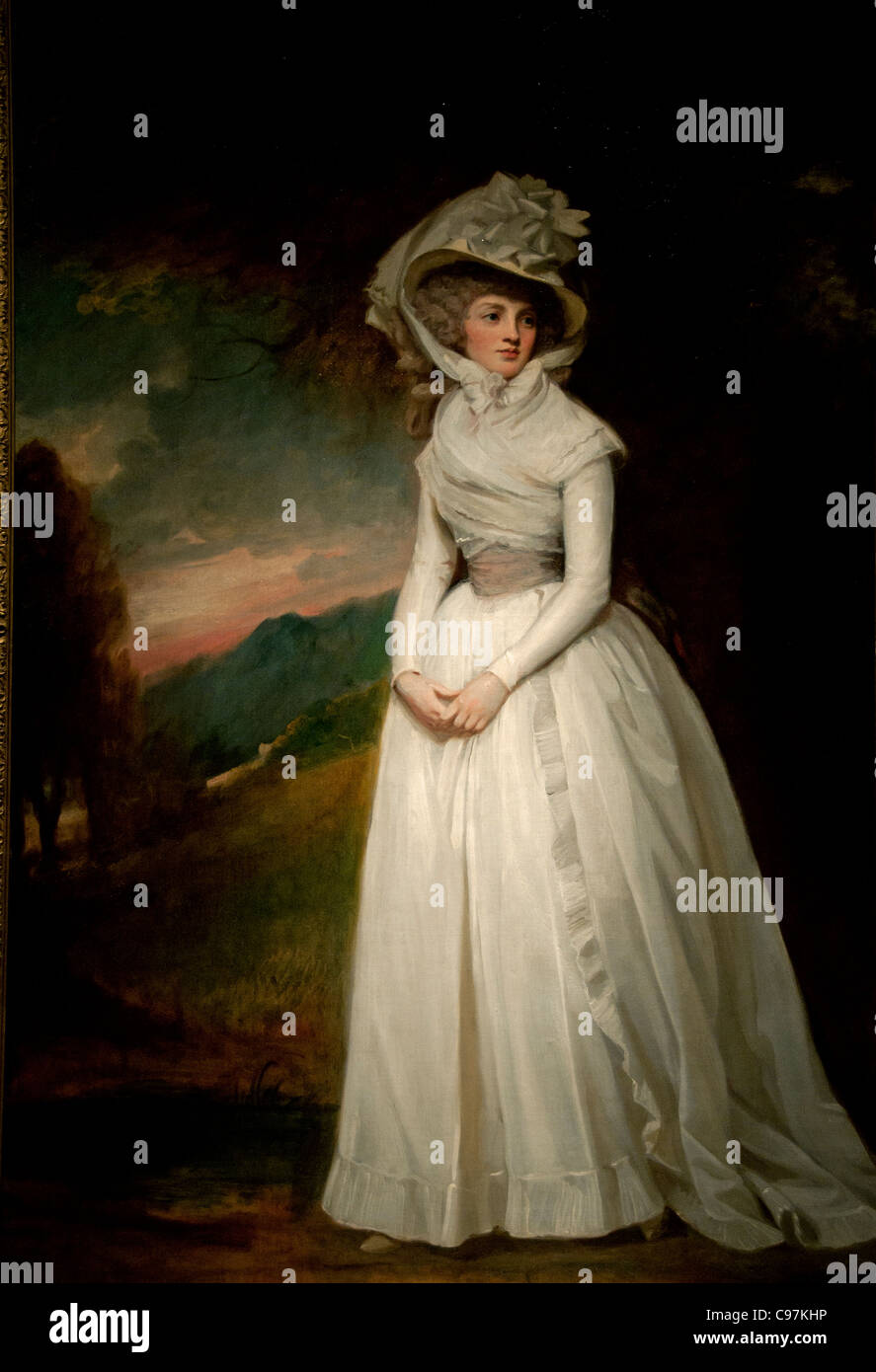 Penelope Lee Acton 1791 by George Romney British - Stock Image