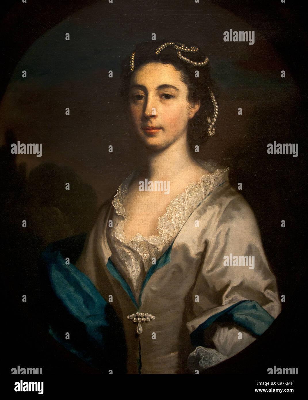 Frances West 1742 by Joseph Highmore British Stock Photo