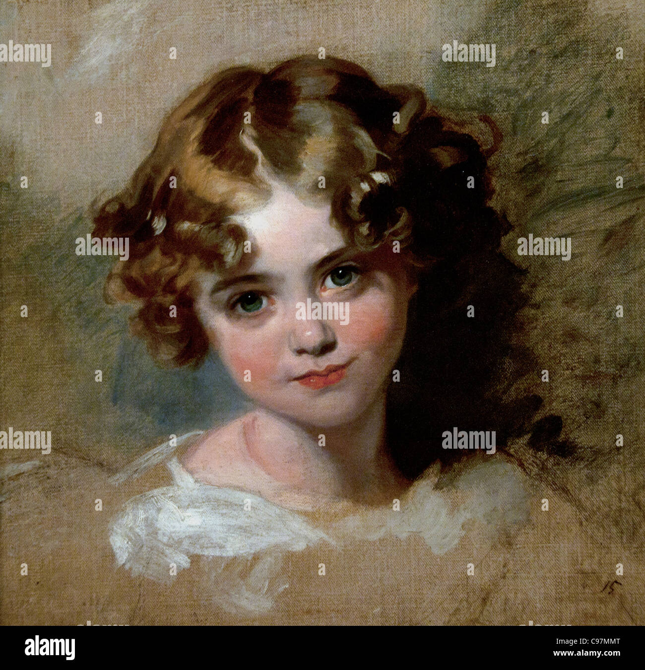 Jane Allnutt 1825 by Thomas Lawrence British Girl - Stock Image