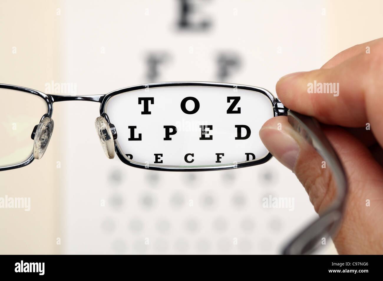 Eye test - Stock Image