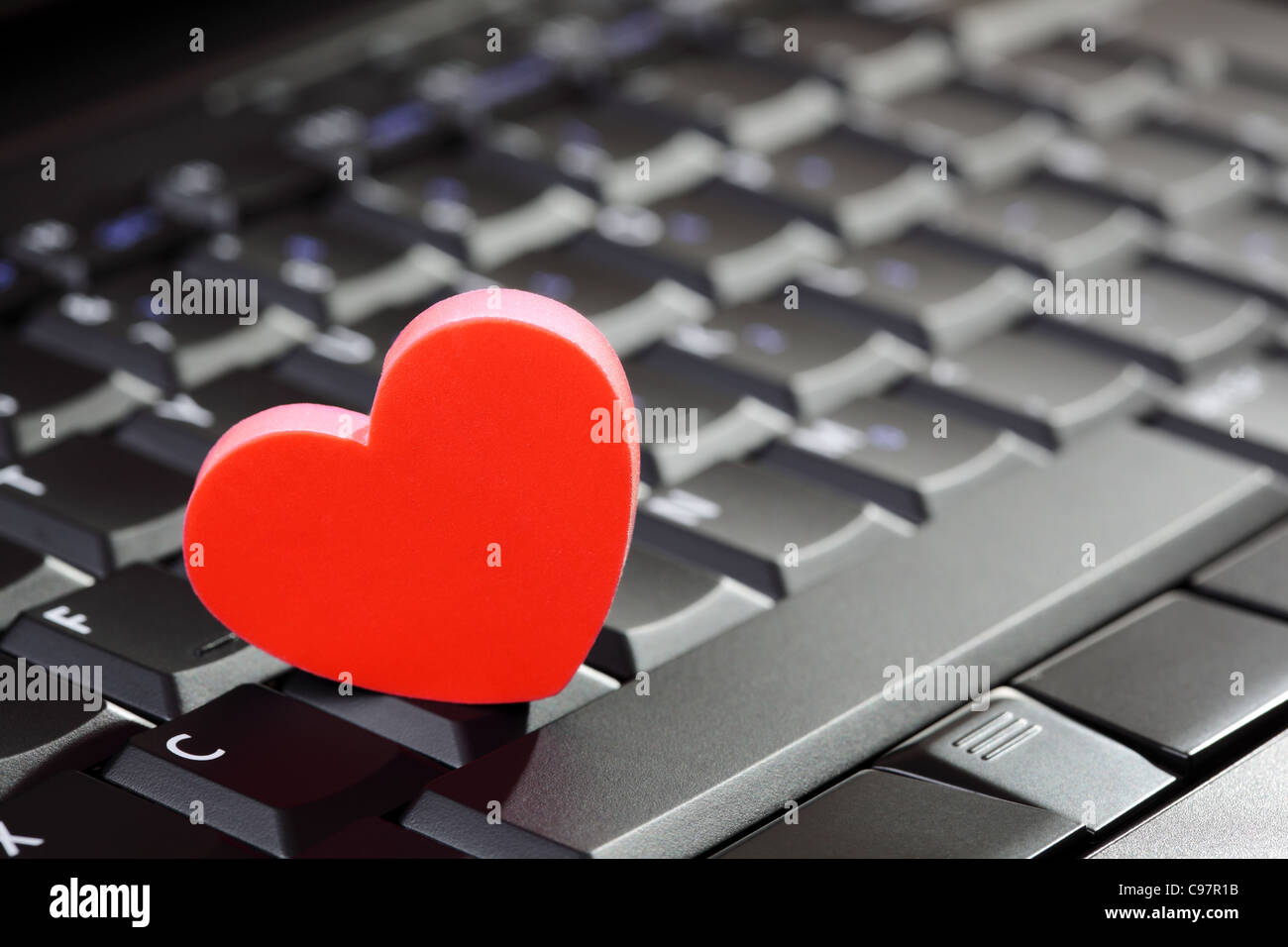 Keyboard With Heart Symbol Stock Photos Keyboard With Heart Symbol