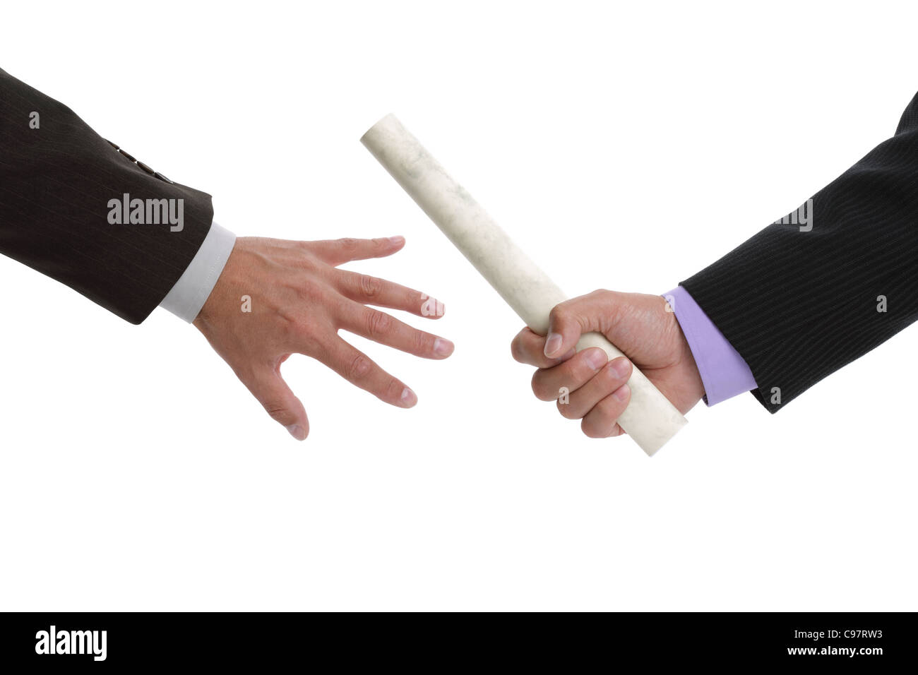 Passing the baton - Stock Image