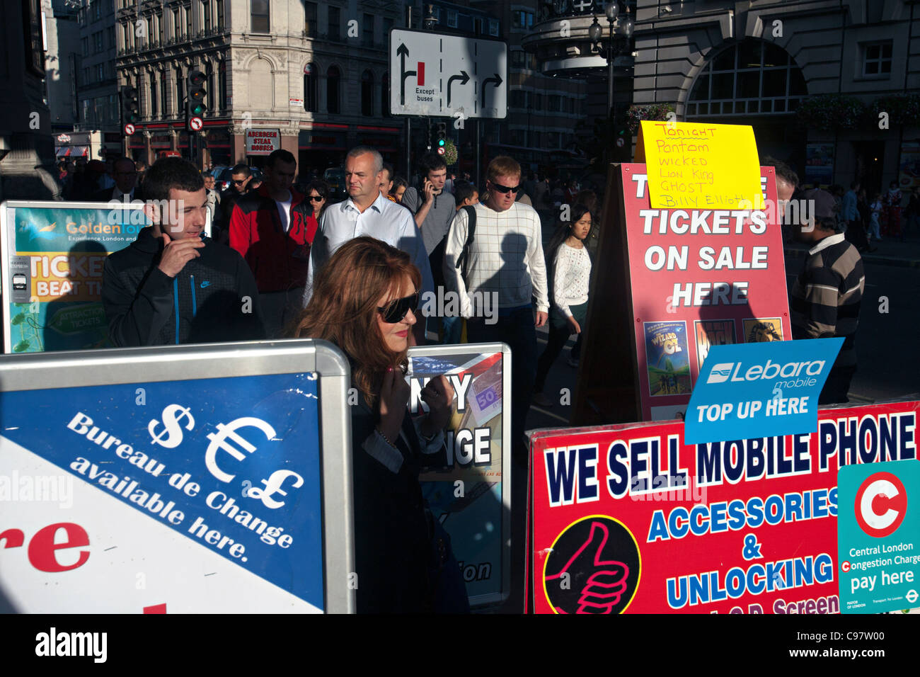 ticket booth in westend of london - Stock Image