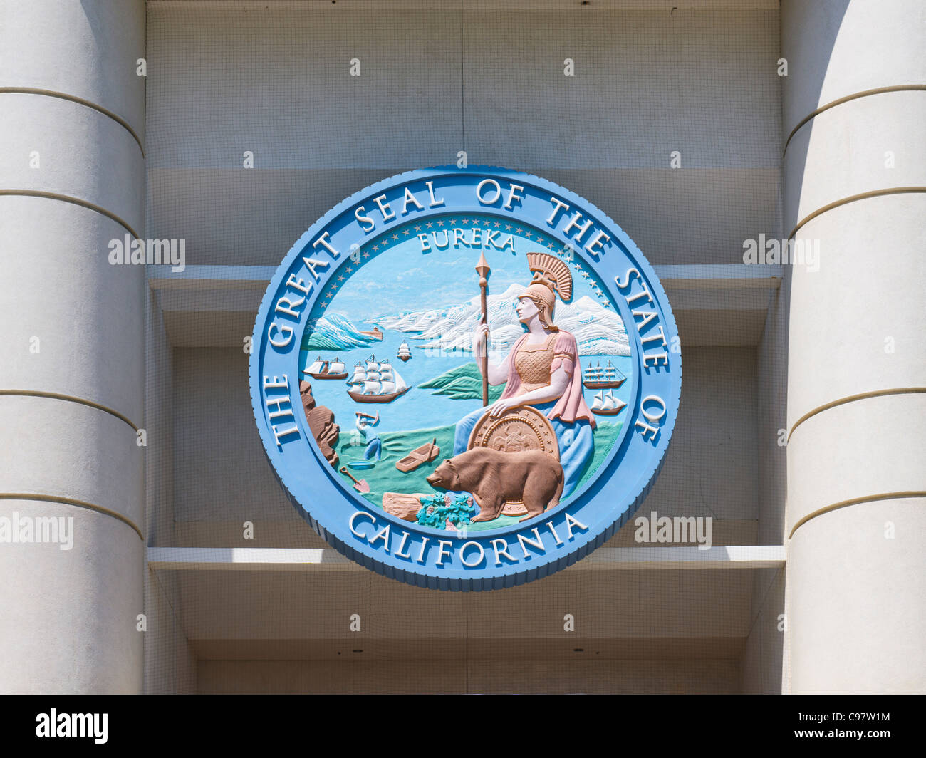 Great seal of state of California - Stock Image