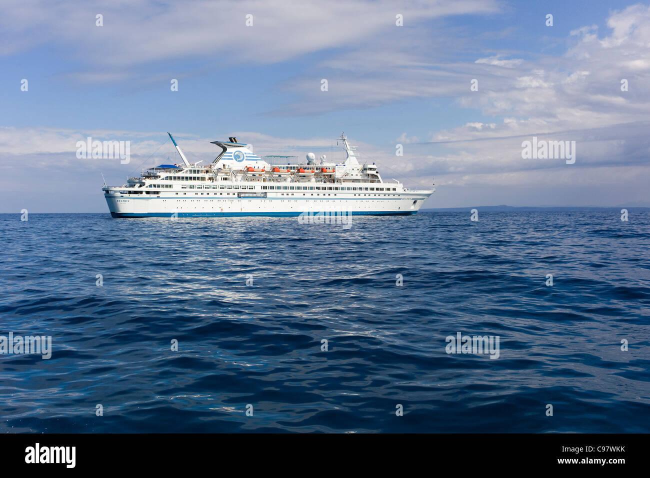 Cruiseship MS Delphin, Aegean Sea, near Greece, Europe - Stock Image