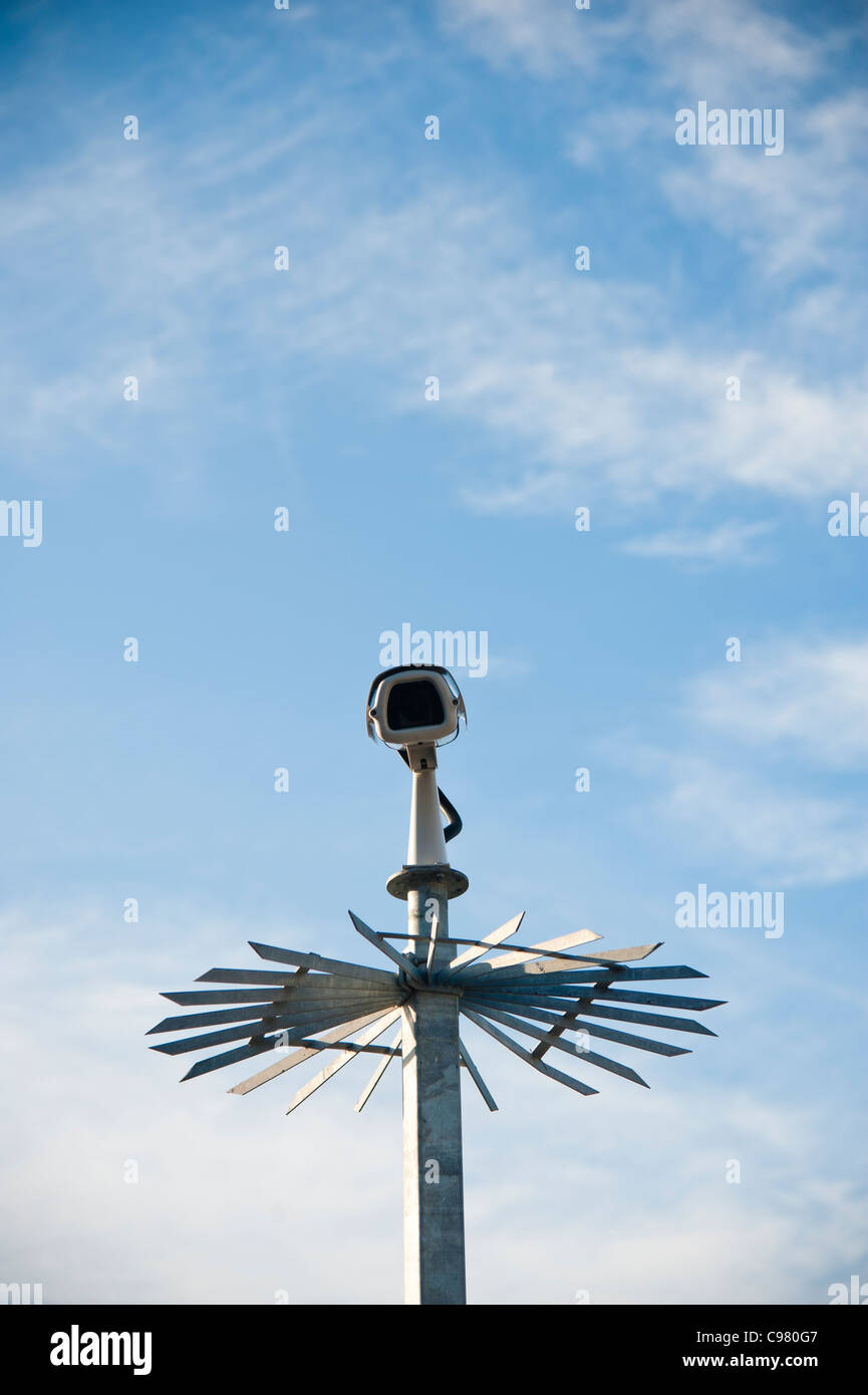 a closed circuit television CCTV security camera Stock Photo
