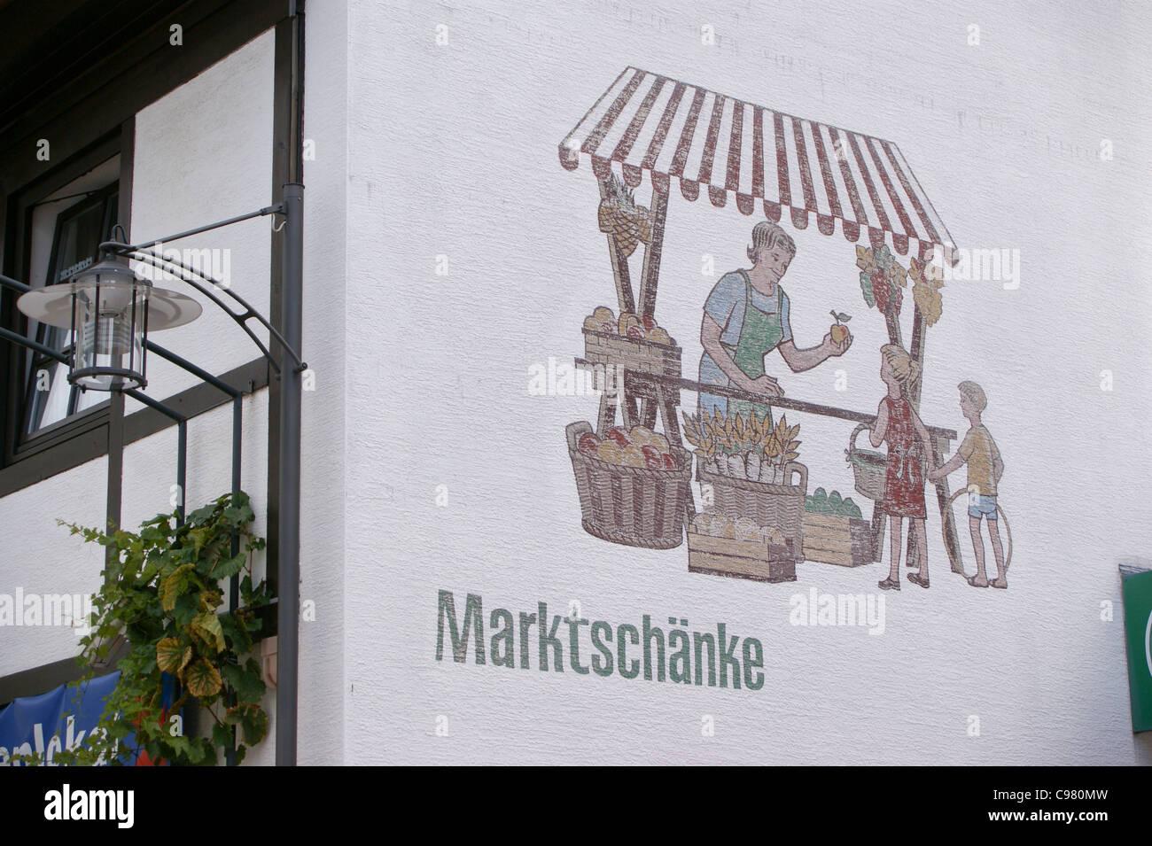 A sign on a wine bar ,Bad Durkheim, Rheinland-Pfalz, Germany Stock ...