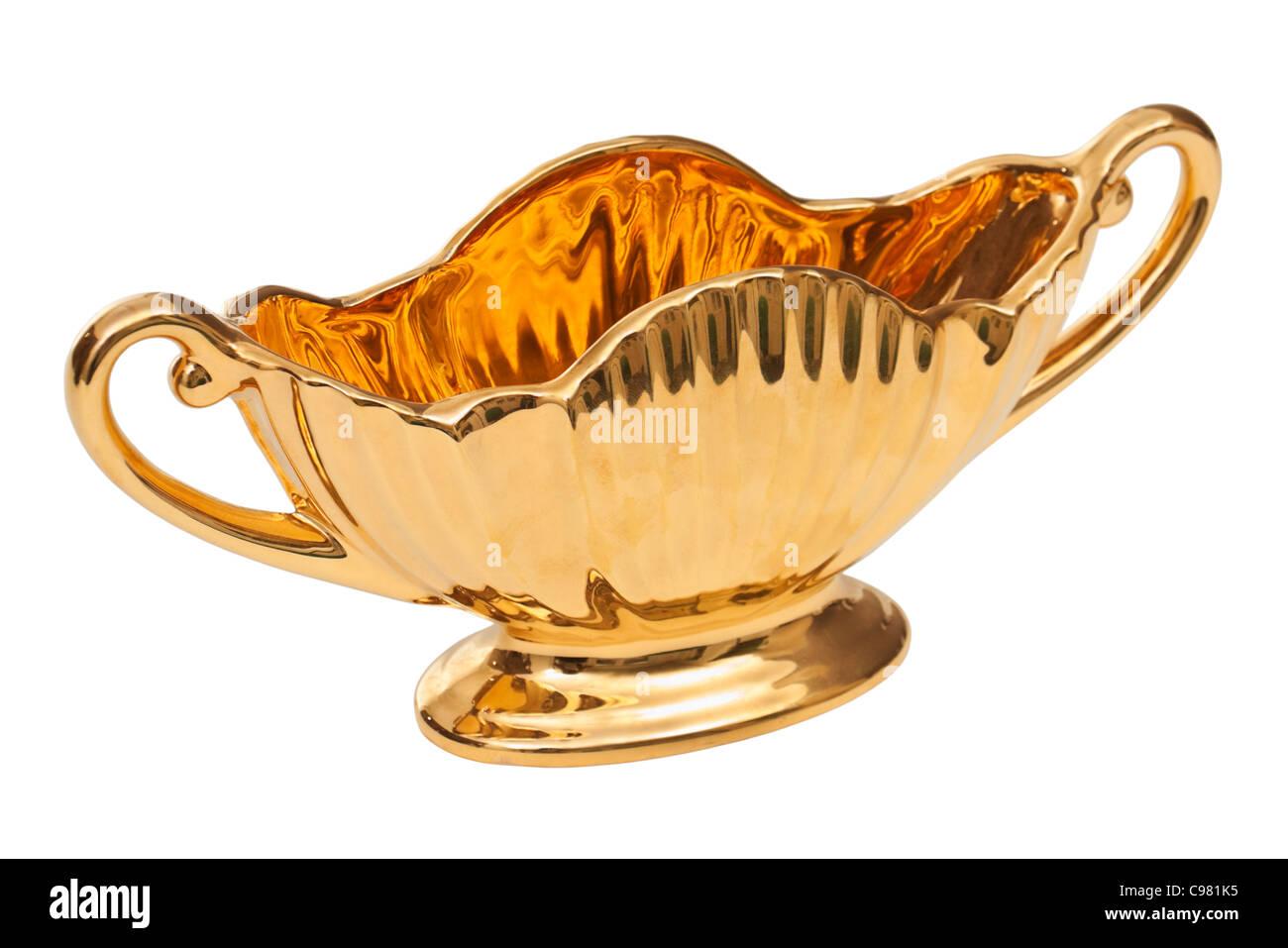 Royal Winton (Grimwades) gilded ceramic pose bowl - Stock Image