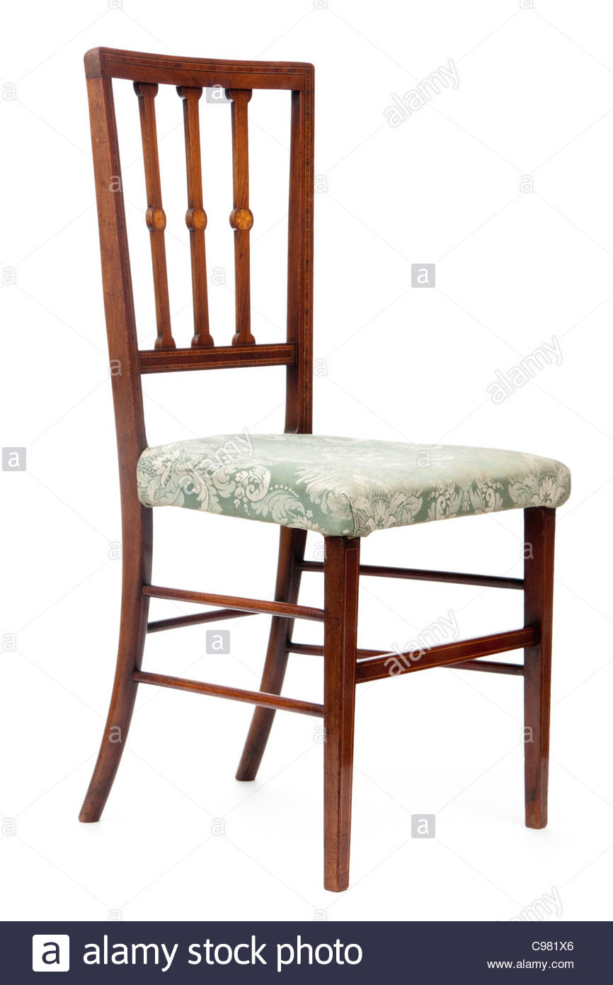Antique Edwardian dining room chair - Stock Image