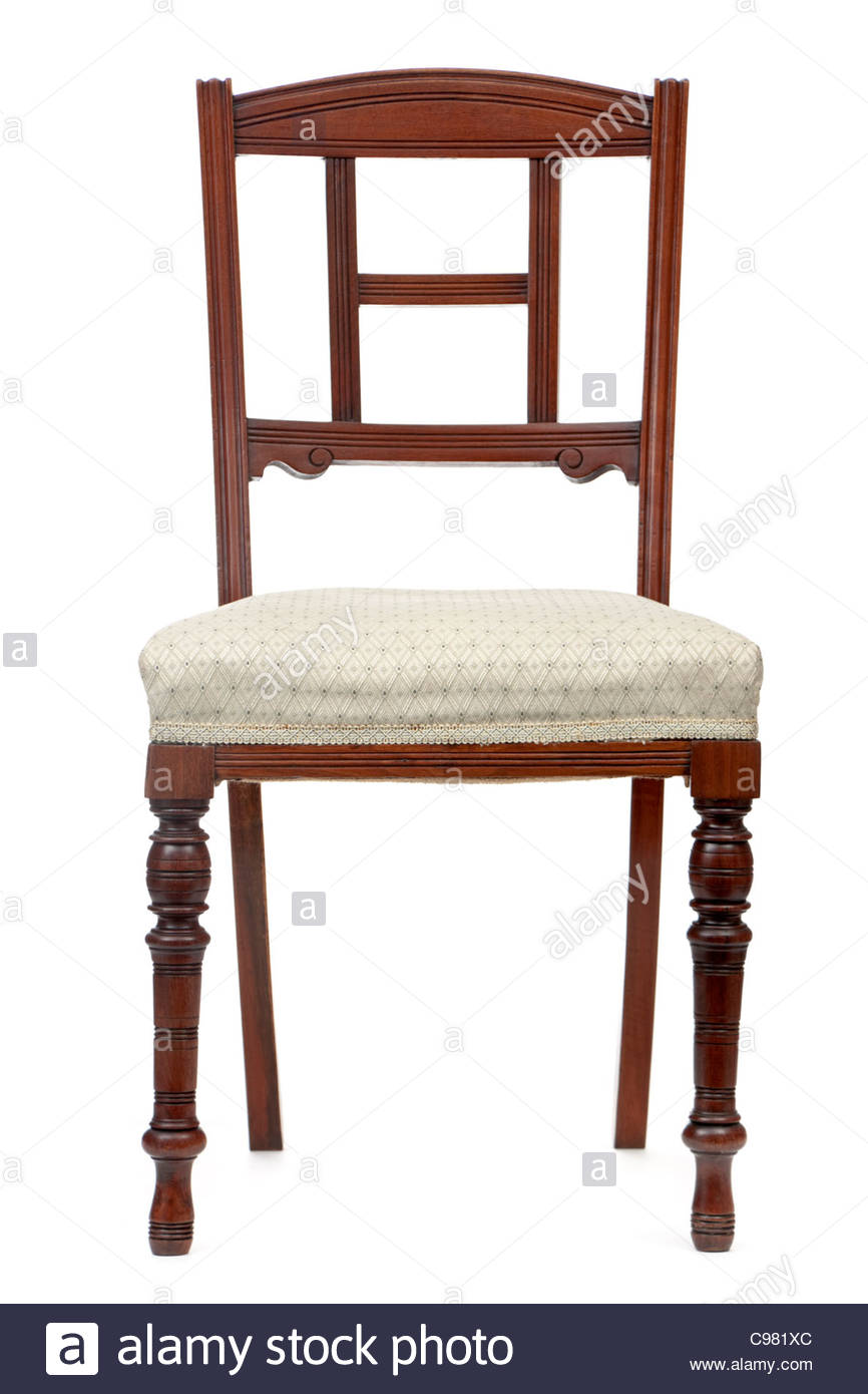 Antique Victorian dining room chair - Stock Image