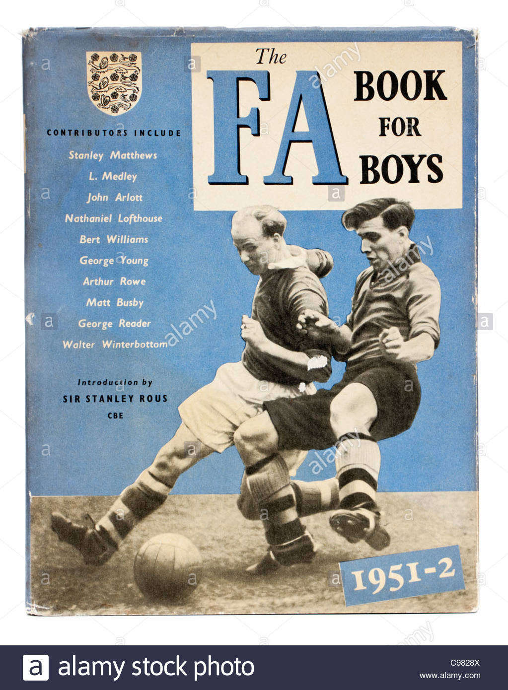 'The FA Book for Boys' from 1951-1952 - Stock Image