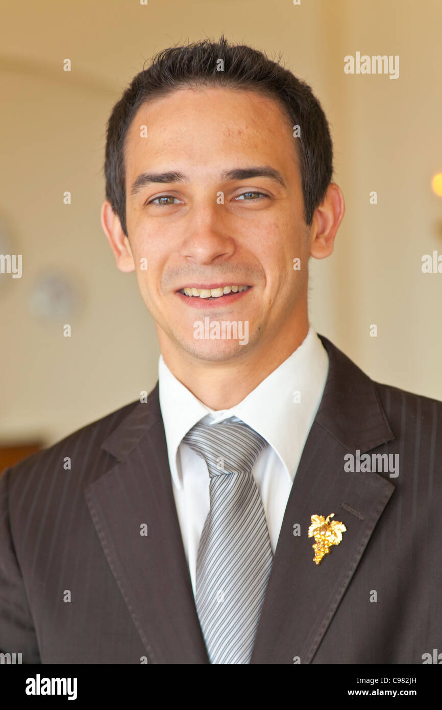 Bernard Neveu, master sommelier of the Saint-Martin restaurant., CHATEAU SAINT-MARTIN & SPA - 2490 Avenue des - Stock Image