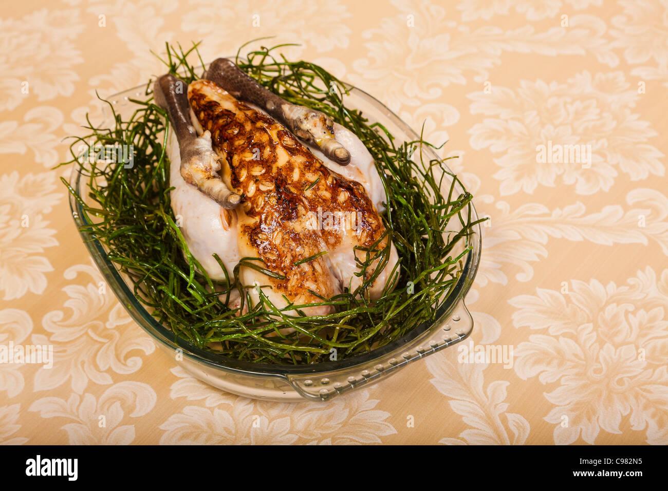 A special recipe of a poultry., CHATEAU SAINT-MARTIN & SPA - 2490 Avenue des Templiers - BP 102 - 06142 VENCE - Stock Image