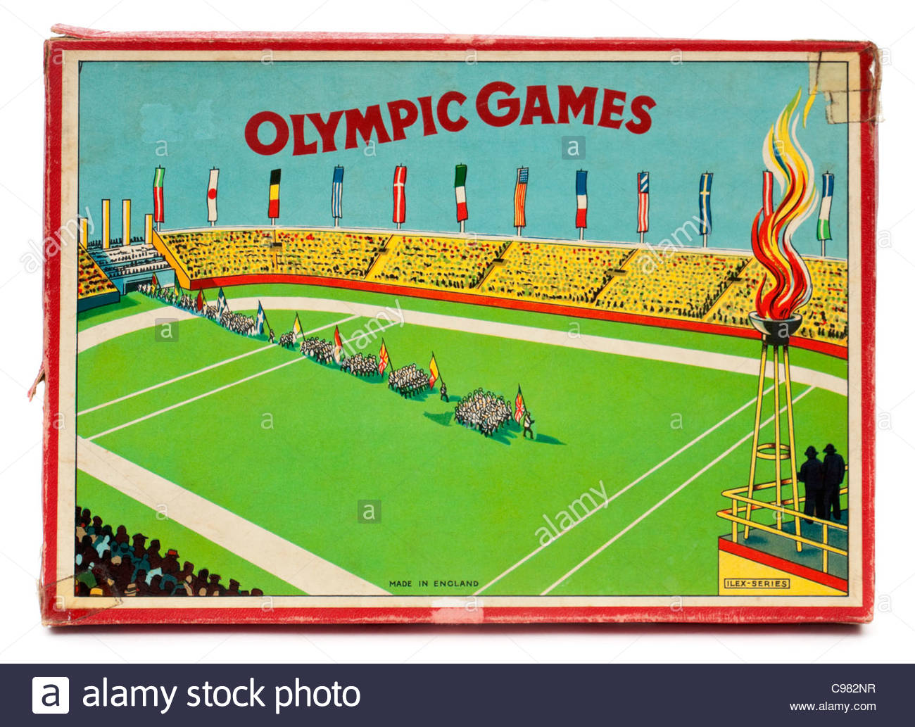 Vintage 1930's 'Olympic Games' board game (Ilex-series) - Stock Image