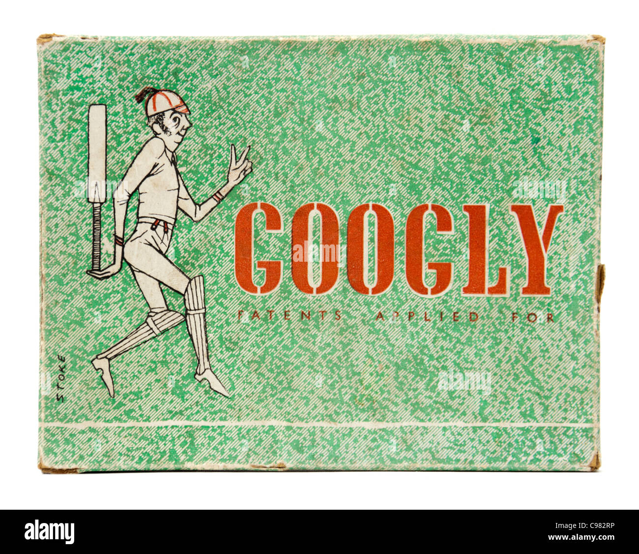 Vintage 1930's 'Googly' cricket card game by Smith & Hallam Ltd, 52 Bedford Row, London - Stock Image