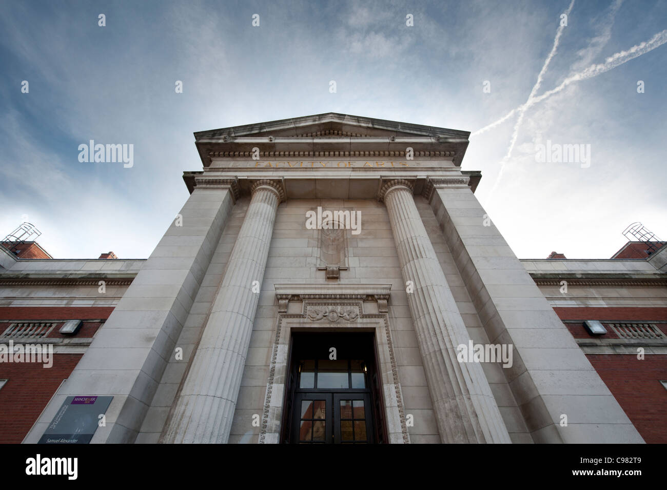 The Samuel Alexander Building on Burlington Street on Oxford Road campus of The University of Manchester (Editorial - Stock Image