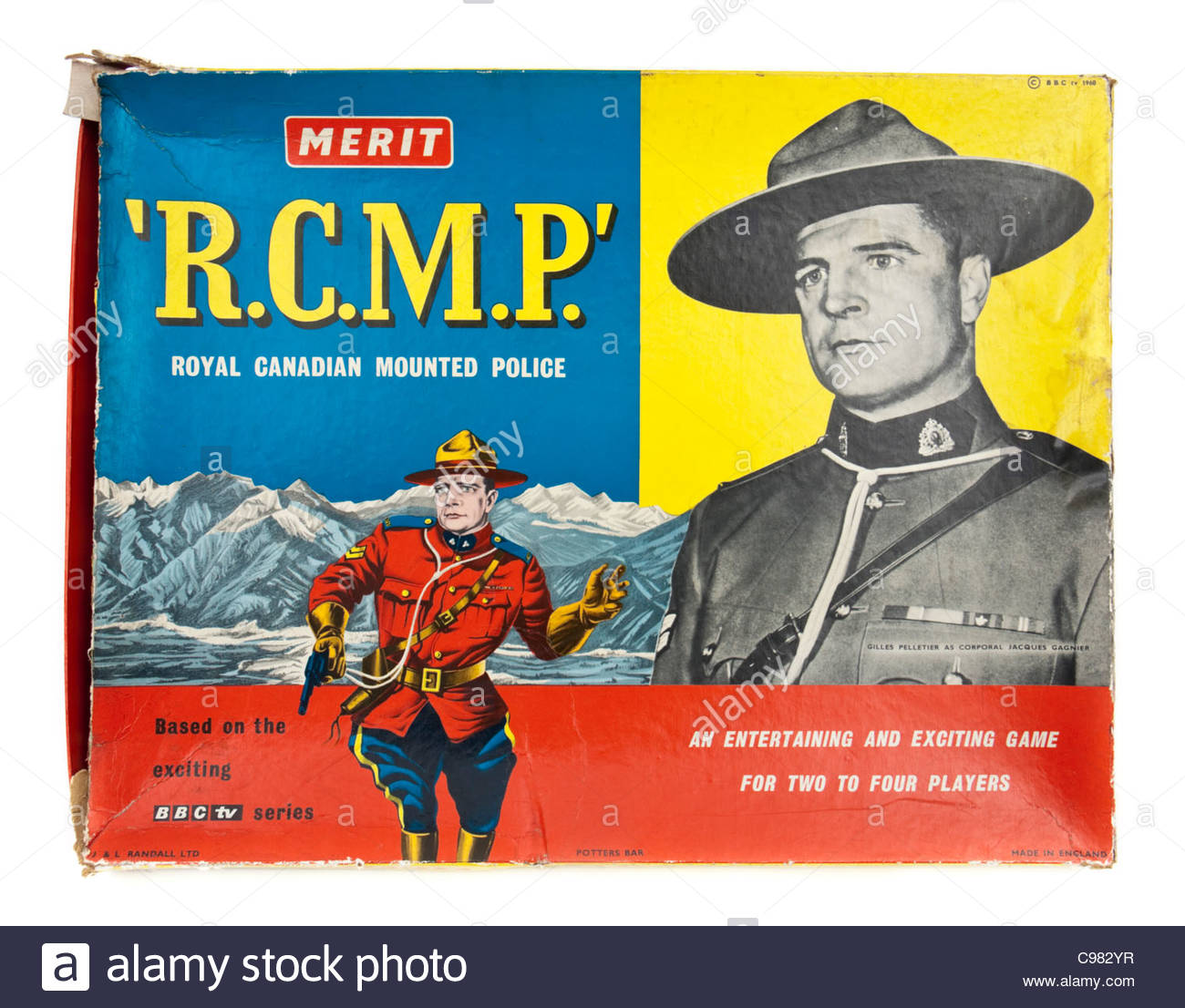 Vintage 1960's R.C.M.P (Royal Canadian Mounted Police) board game by Merit (J &L Randall Ltd) - Stock Image