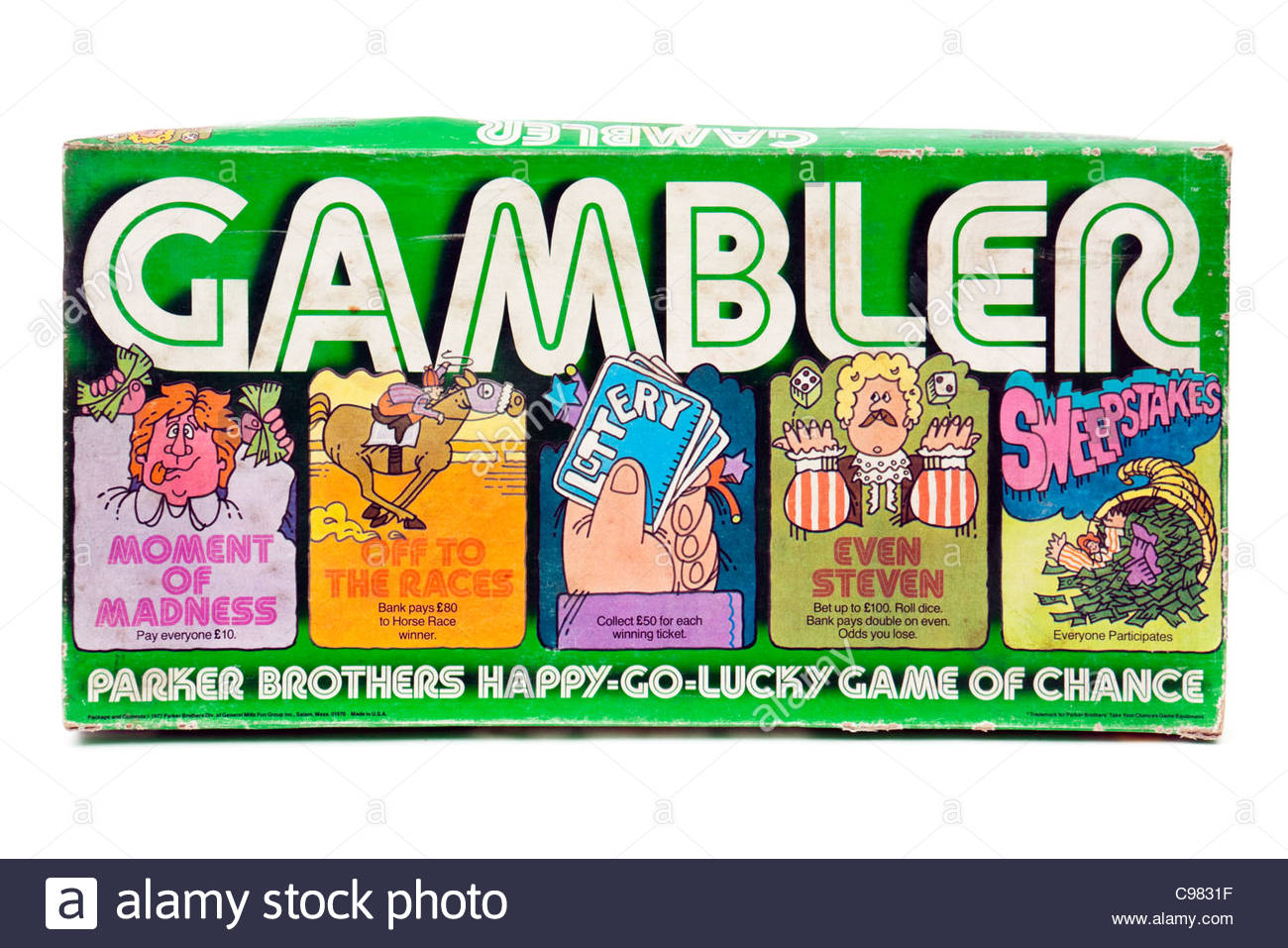 Vintage 1977 'Gambler' board game by Parker Brothers (USA) - Stock Image