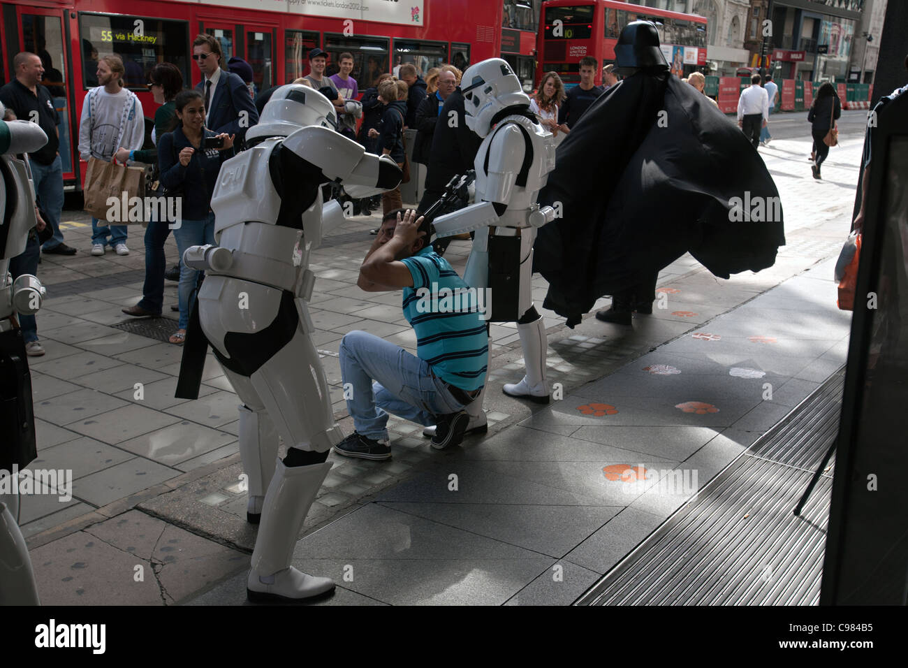 star wars characters in london - Stock Image