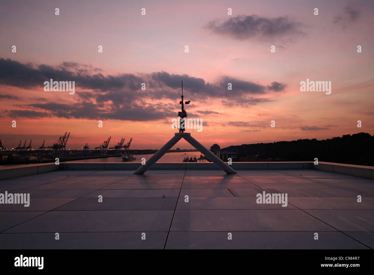 View From The Roof Of Dockland Building To East Oevelgoenne Hamburg Germany