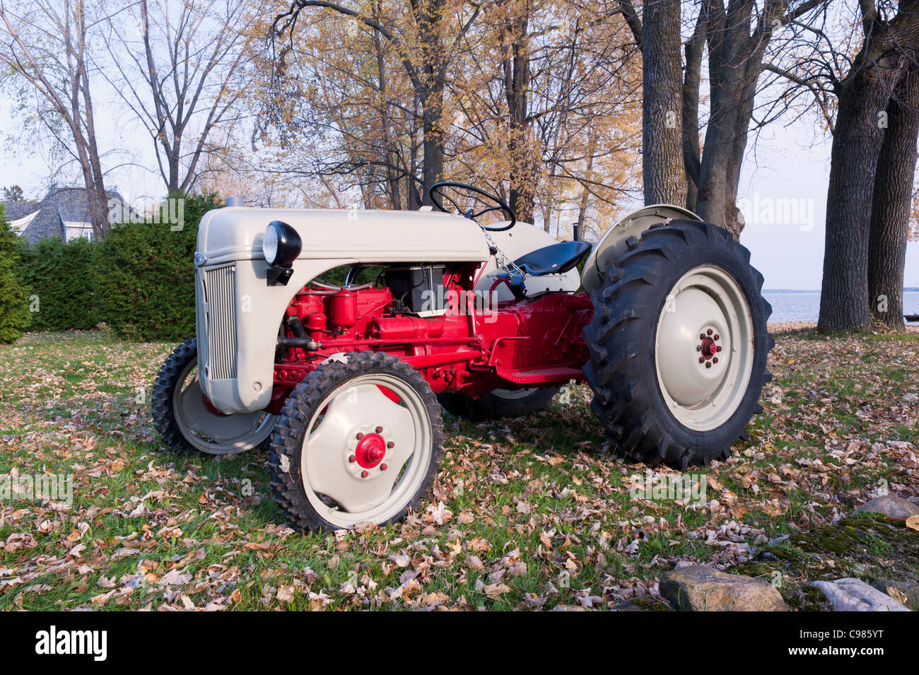 Restored Ford 8n 1948 Tractor Stock Photo 40132956 Alamy