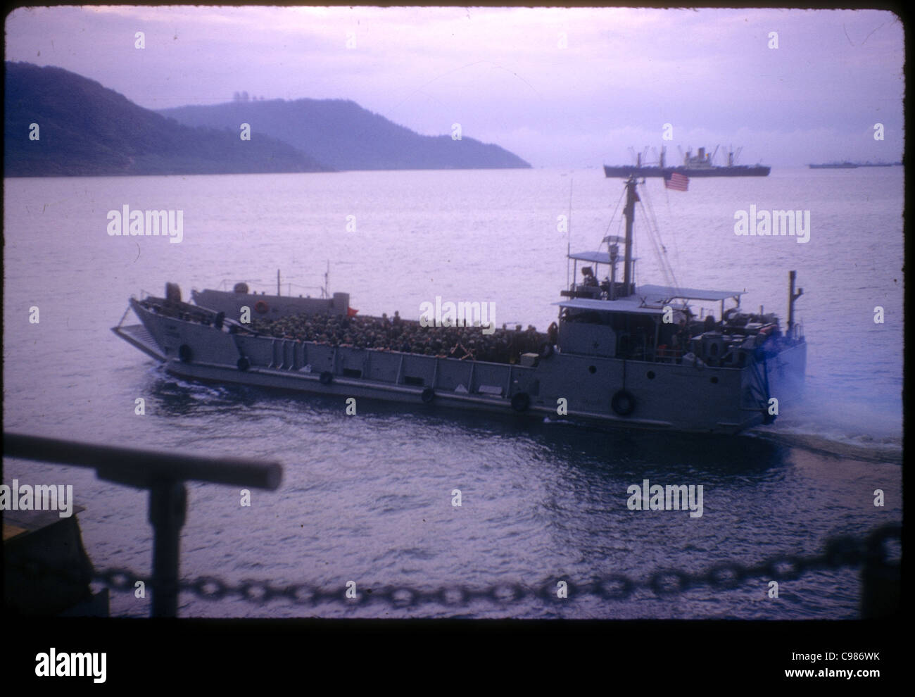 9th Infantry Division arriving in Vietnam - Stock Image