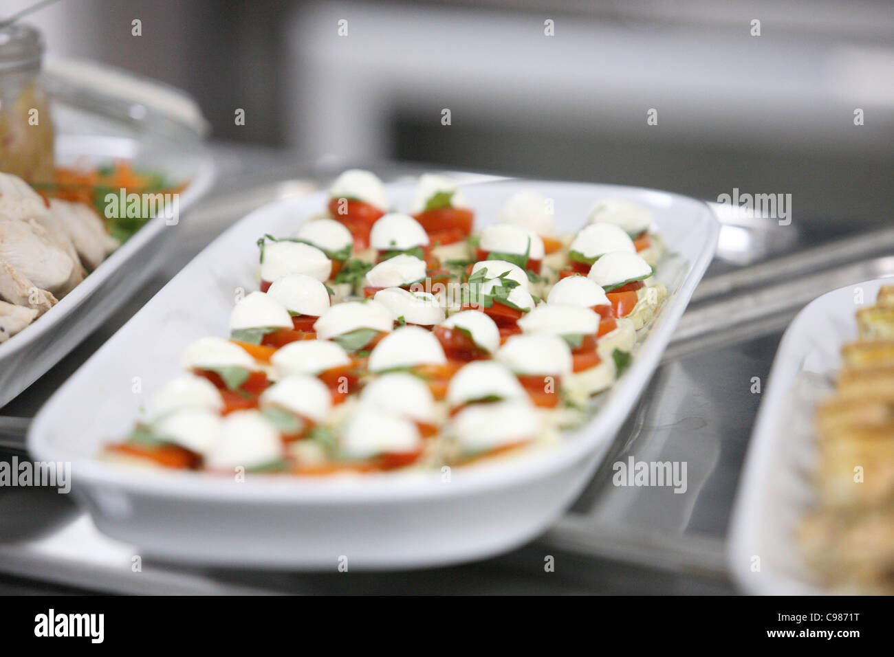 Canape on counter top - Stock Image