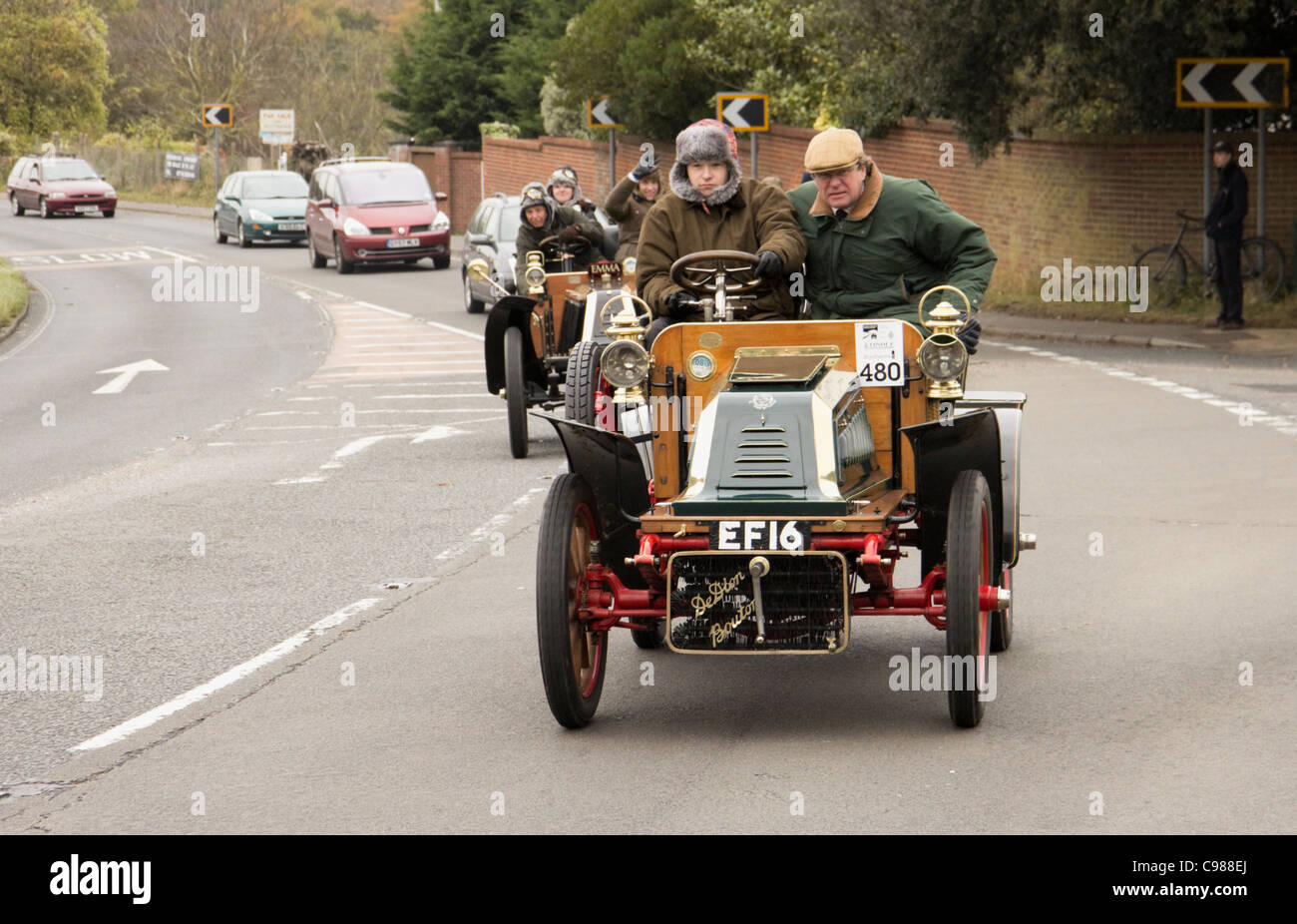 1904 De Dion Bouton on the 2011 London to Brighton Veteran Car Run - Stock Image