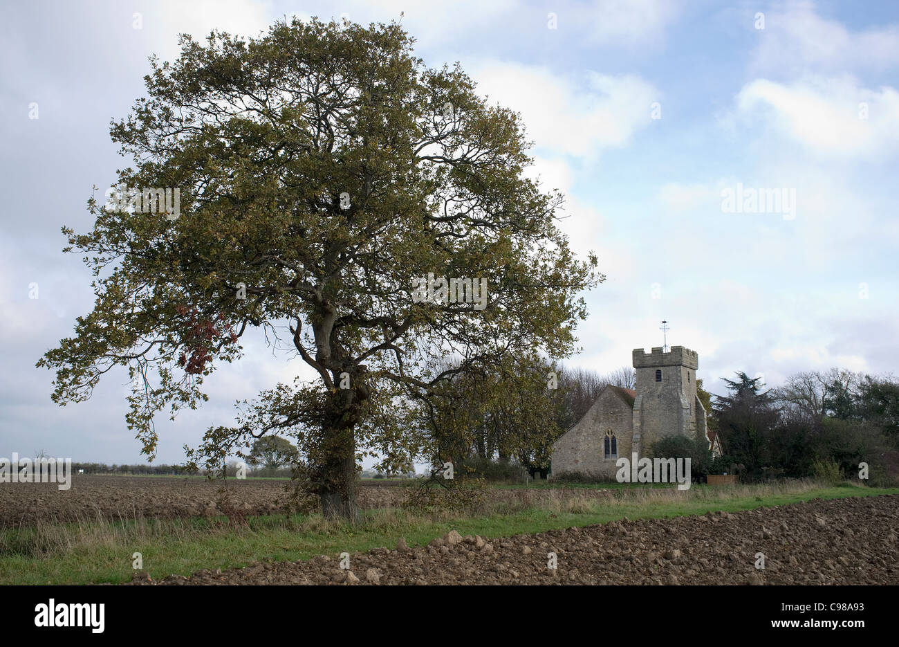 St Georges Church, Donnington, West Sussex -1 - Stock Image