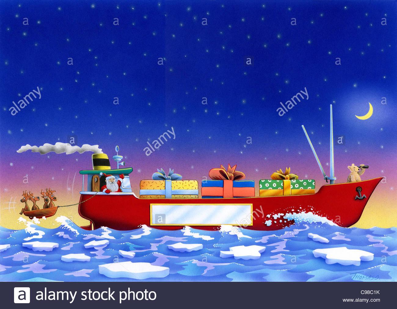 Christmas gifts on Container ship Christmas Christmas gifts ...