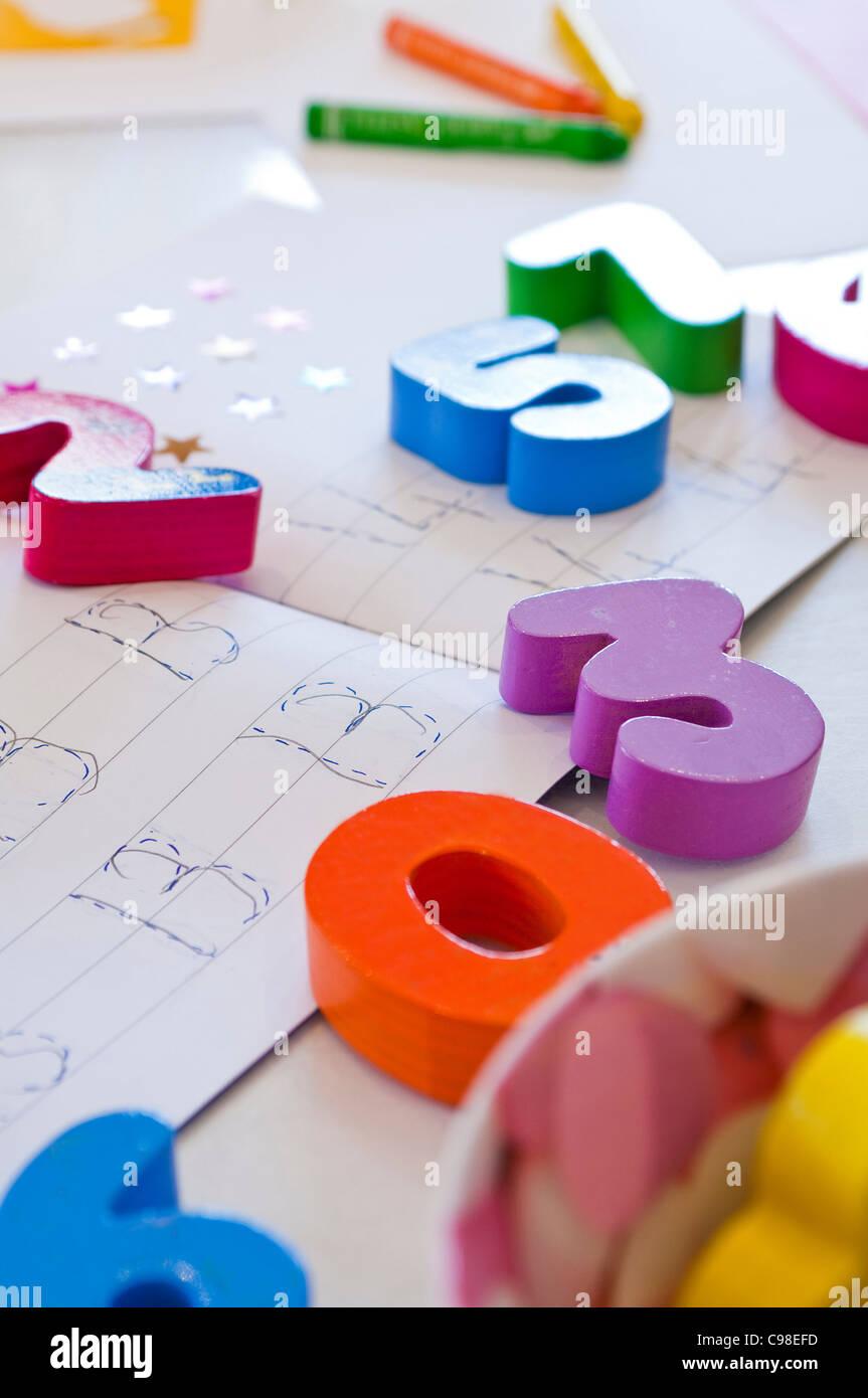 Children's mathematics equipment - Stock Image