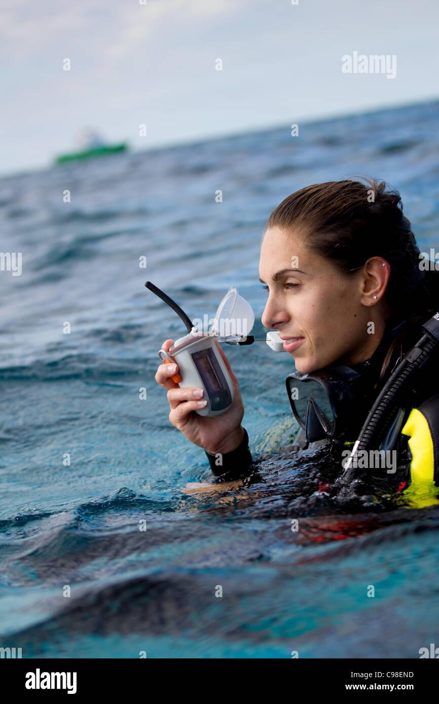 Marine emergency device - Stock Image