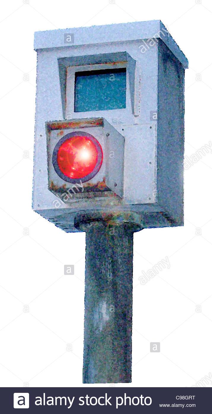 Traffic Camera Reddish - Stock Image