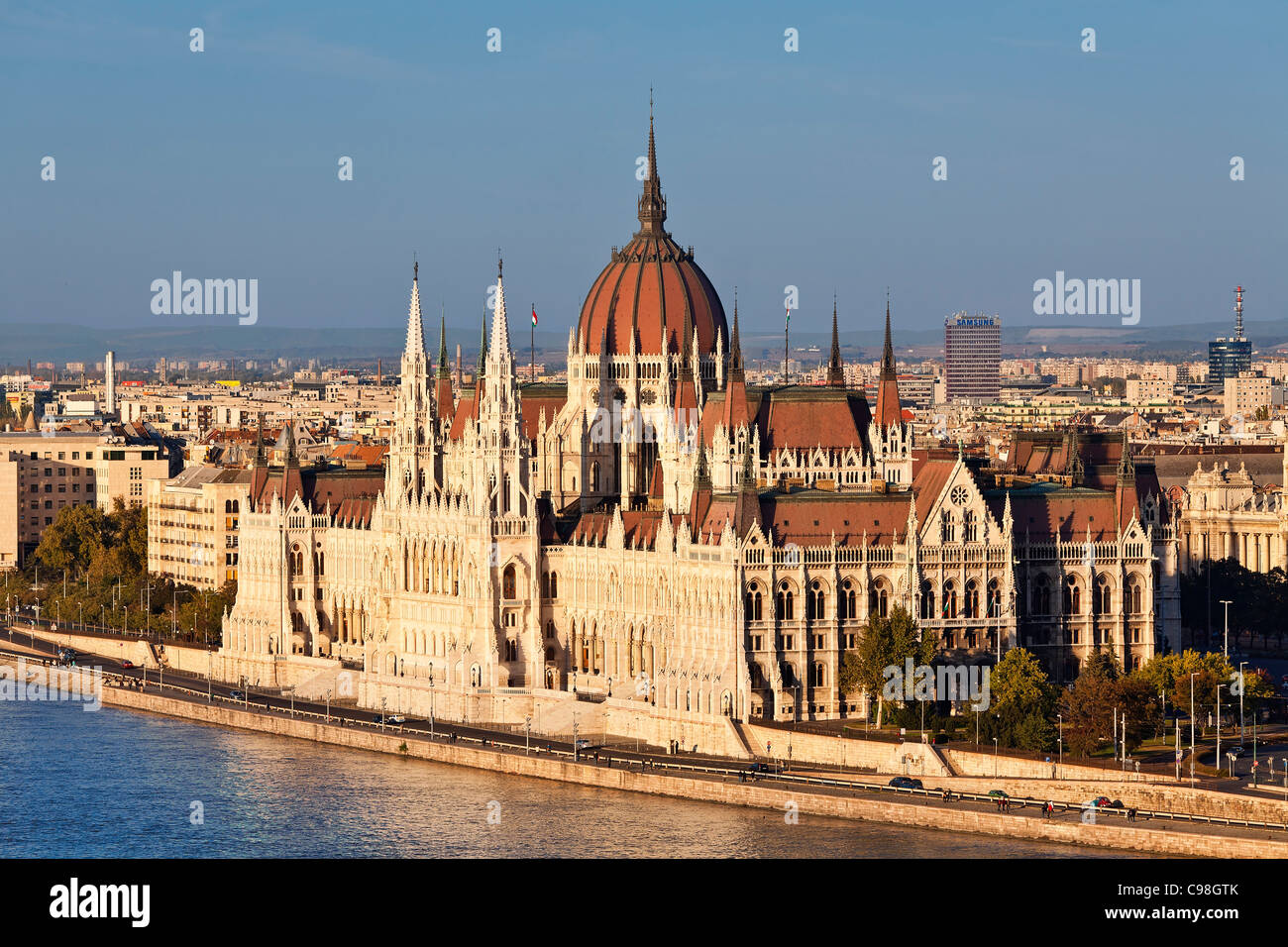 Budapest, Hungarian Parliament Building - Stock Image