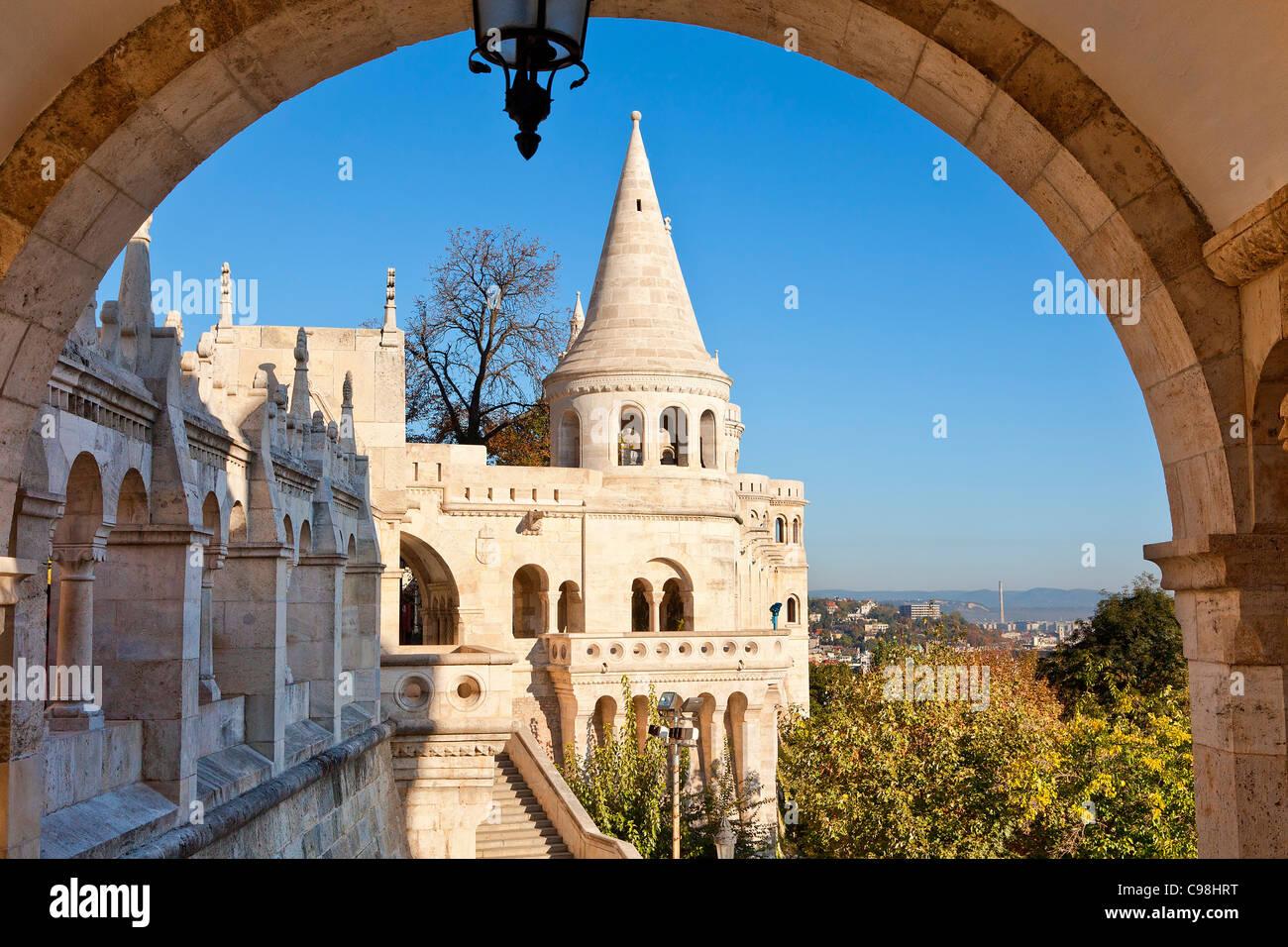 Budapest, Fishermen's Bastion - Stock Image