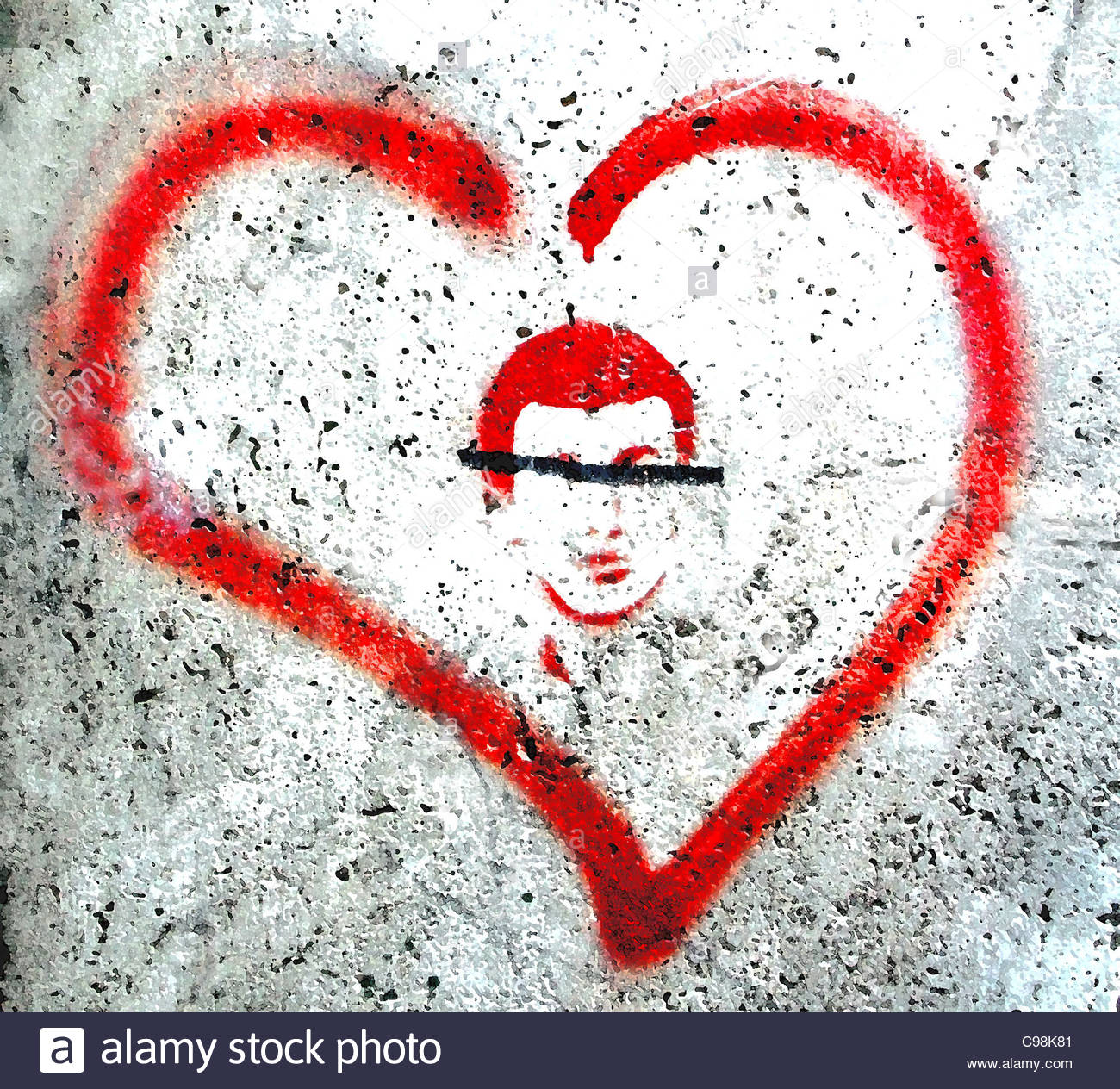 love love loving loving loves love Affection zweisam Togetherness fall love - Stock Image
