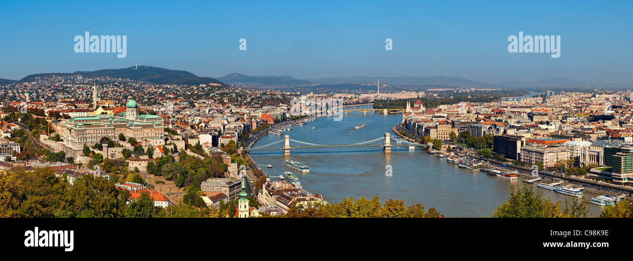 Budapest, View from Gellert Hill - Stock Image