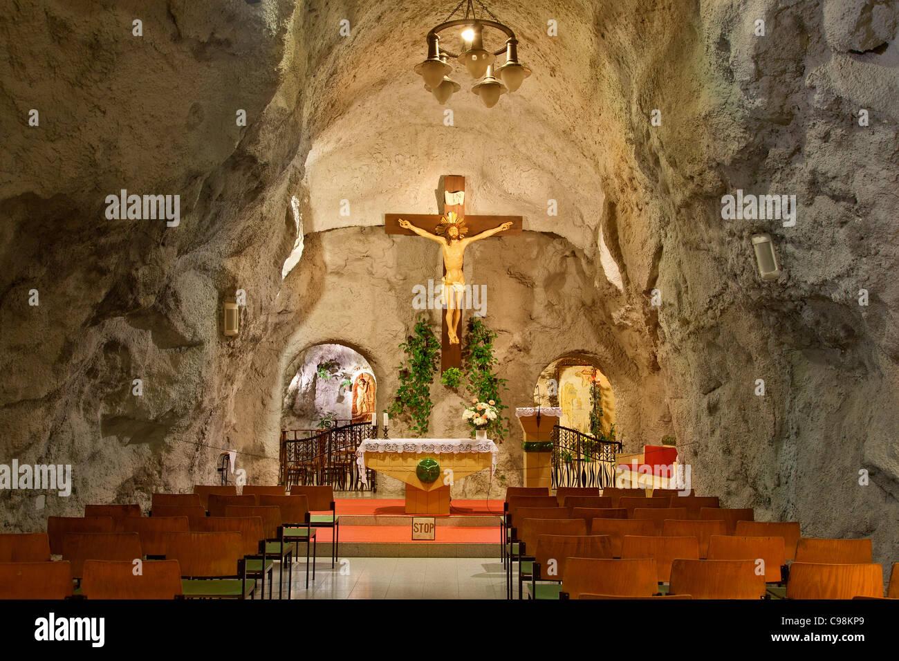 Budapest, Cave Church on Gellert Hill - Stock Image