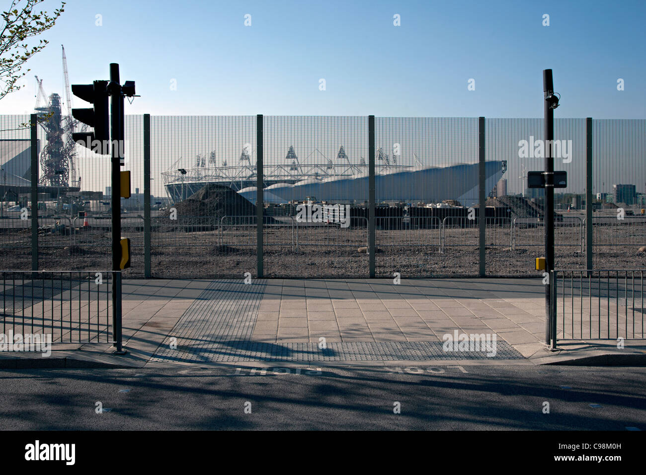 olympic stadium seen from westfield stratford Stock Photo