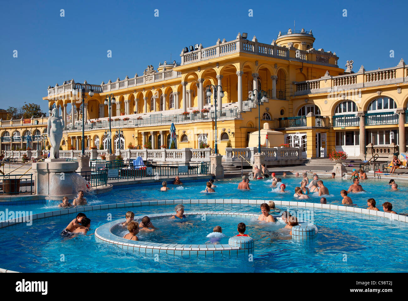 Budapest Szechenyi Baths Stock Photos & Budapest Szechenyi Baths ...