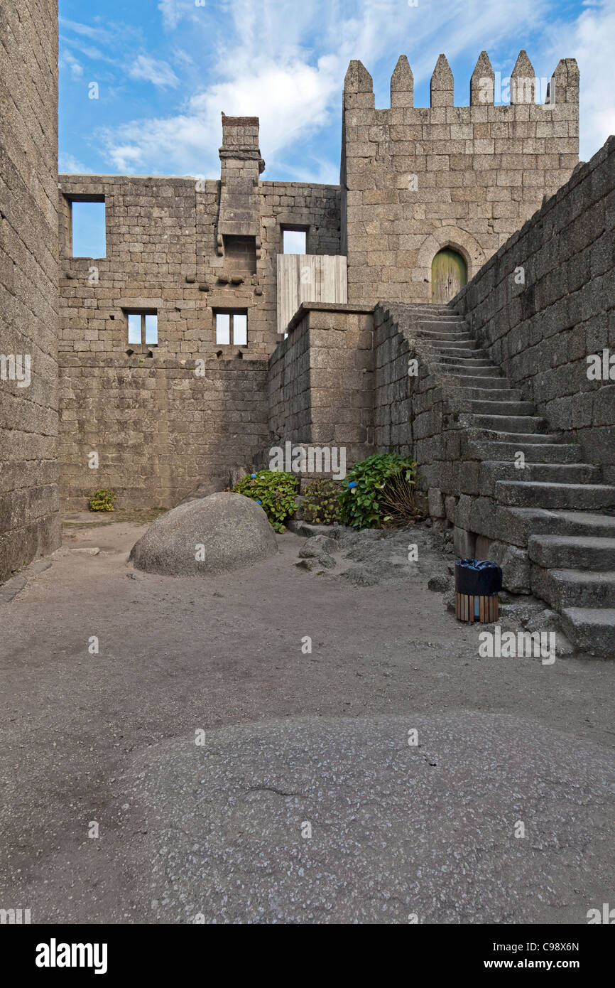 guimaraes castle interior this is the most known castle in portugal as it was the