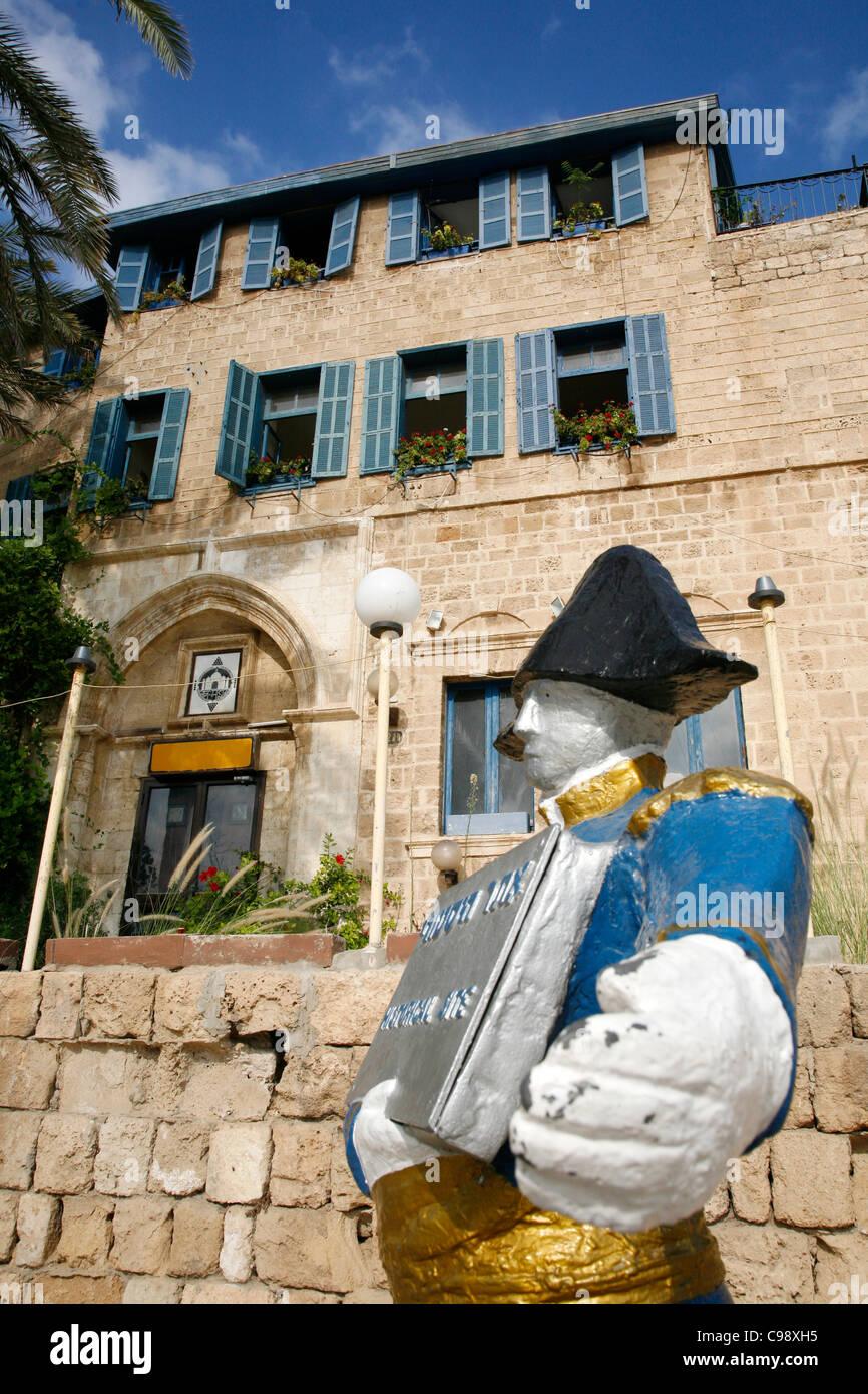 Kdumim Square in Old Jaffa, Tel Aviv, Israel. - Stock Image