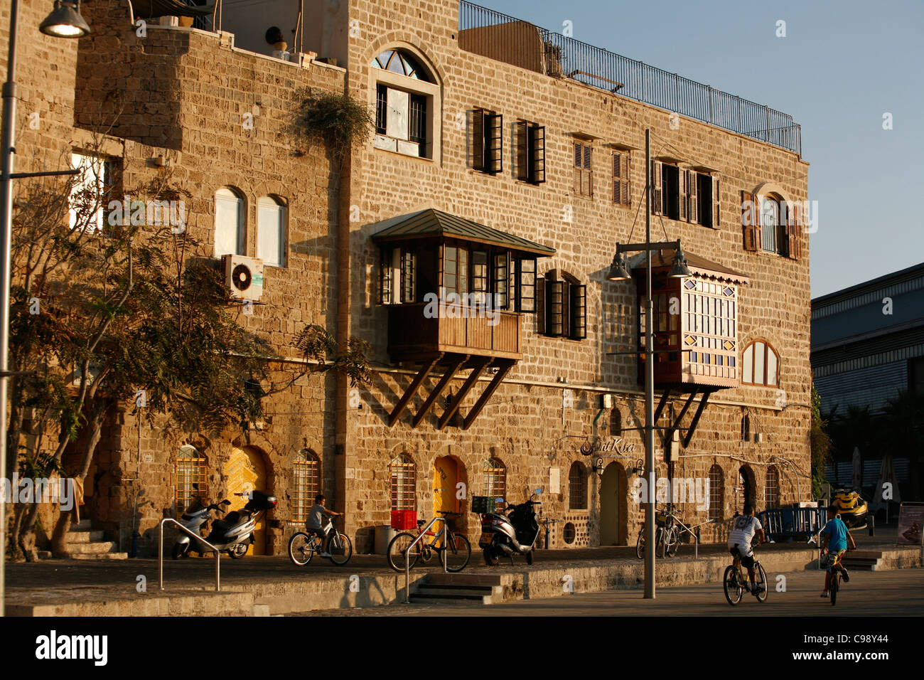Old building by the port in Old Jaffa, Tel Aviv, Israel. Stock Photo