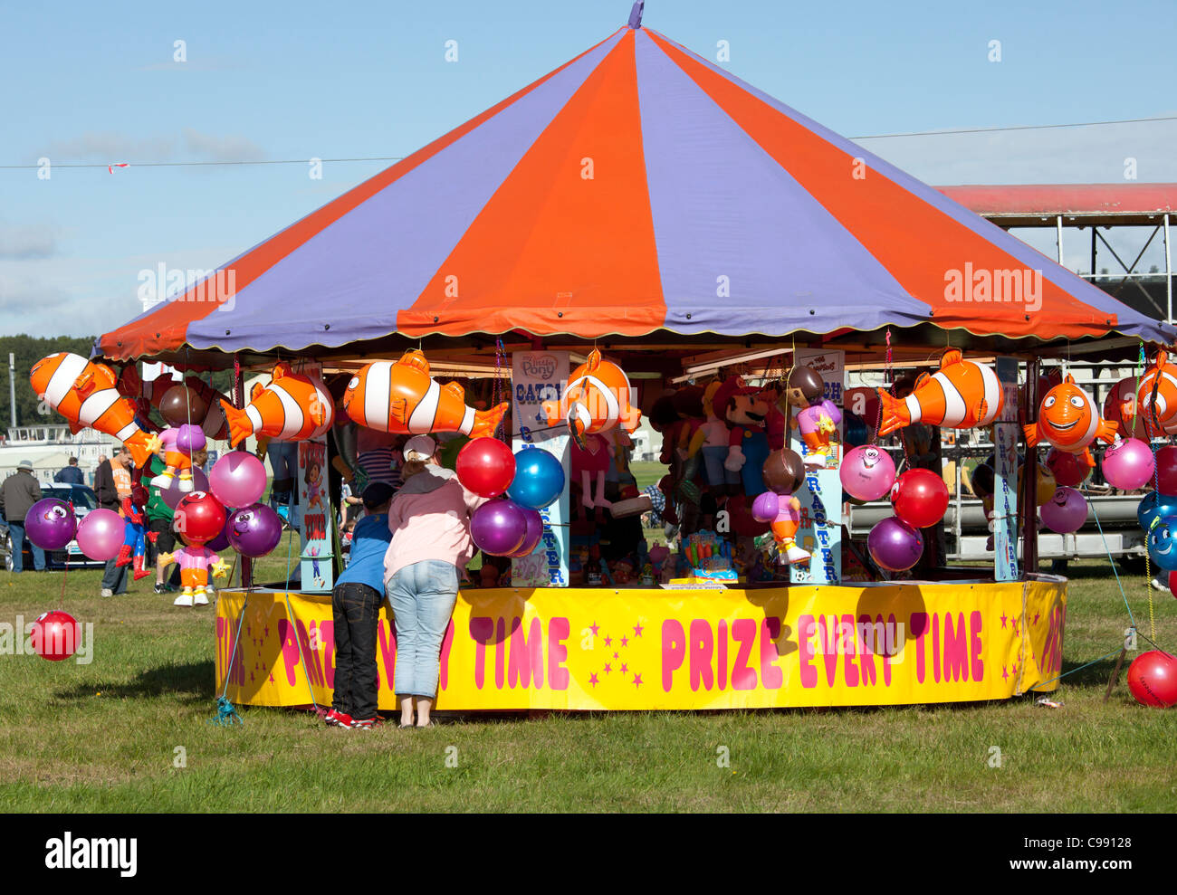 Prize every time stall at Dunsfold Wings and Wheels 2011, Surrey, UK - Stock Image