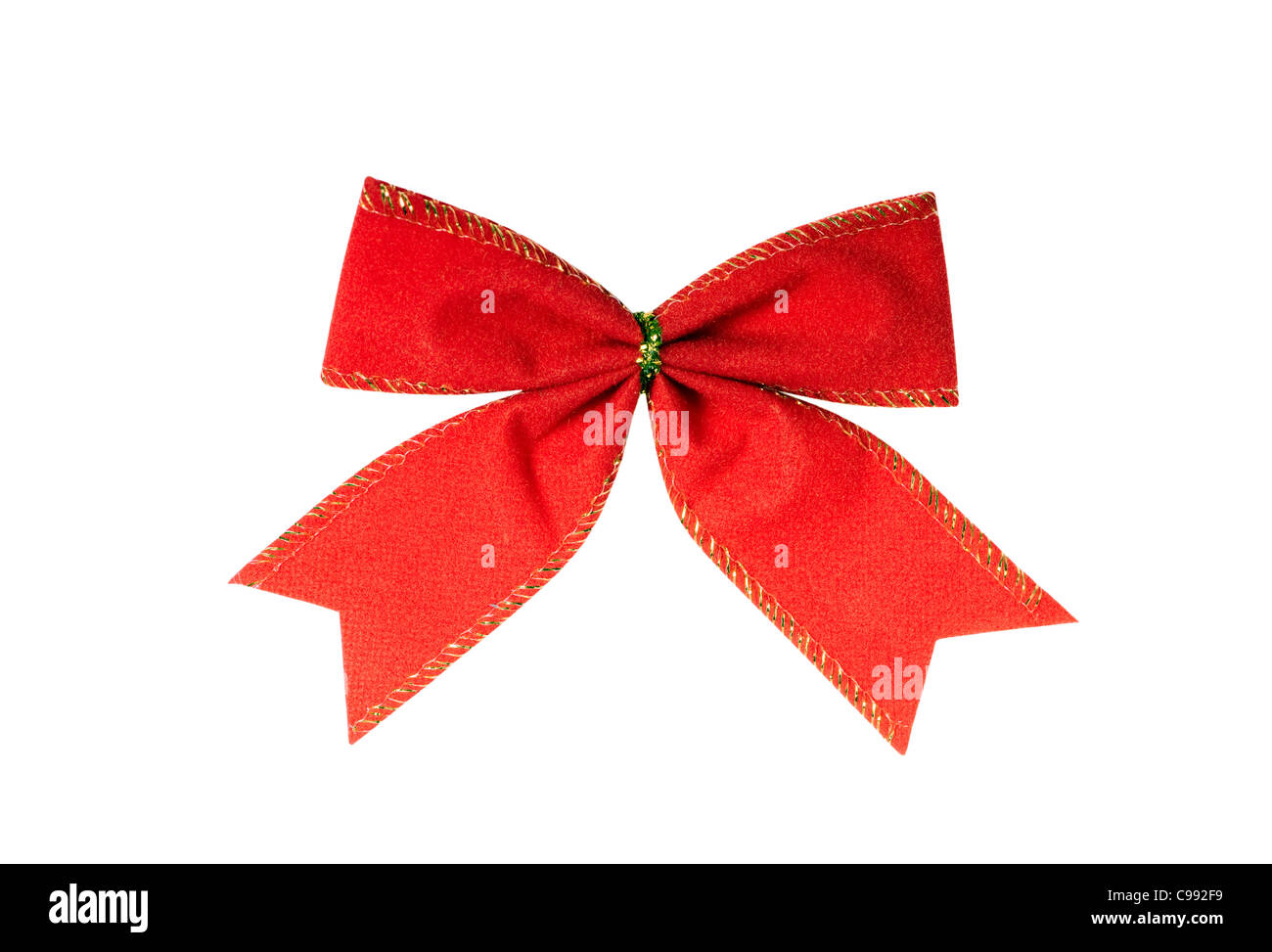 red bow isolated on the white background - Stock Image
